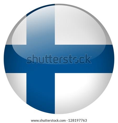 Finland flag button - stock photo