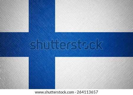 Finland flag leather texture - stock photo