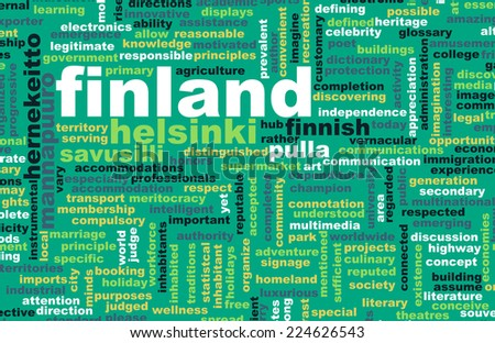 Finland Helsinki as a Abstract Concept Art - stock photo