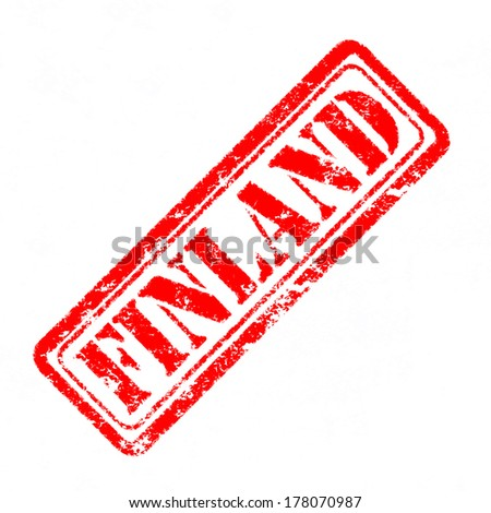 FINLAND Rubber Stamp  - stock photo