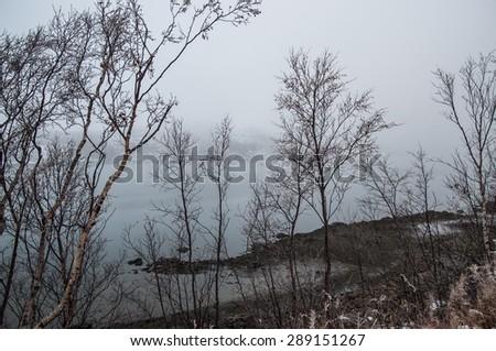Finmark, Norway in winter - stock photo