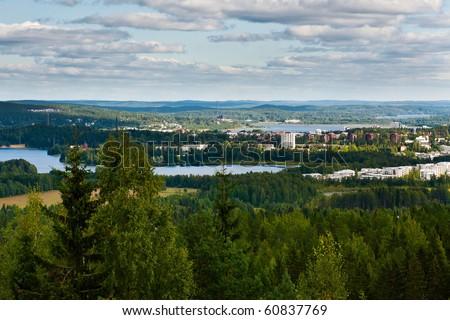 Finnish Landscape: Central Finland, Jyvaskyla - stock photo