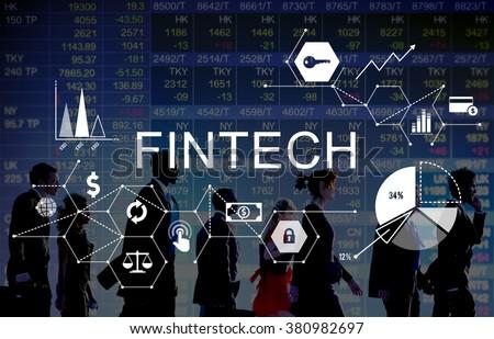 Fintech Investment Financial Internet Technology Concept - stock photo
