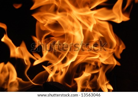 Fire 7 - stock photo