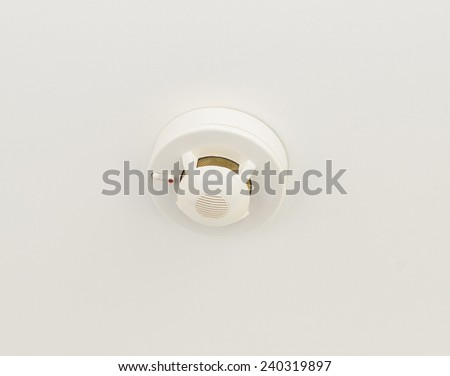 Fire alarm at the hotel. Photo for microstock - stock photo