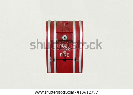 Fire Alarm Mounted on the wall - stock photo