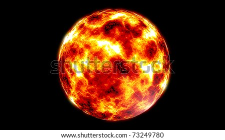 fire ball - stock photo