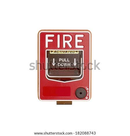 fire break glass - stock photo