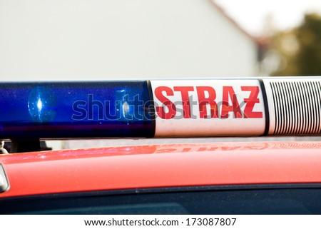fire brigade cock car - stock photo