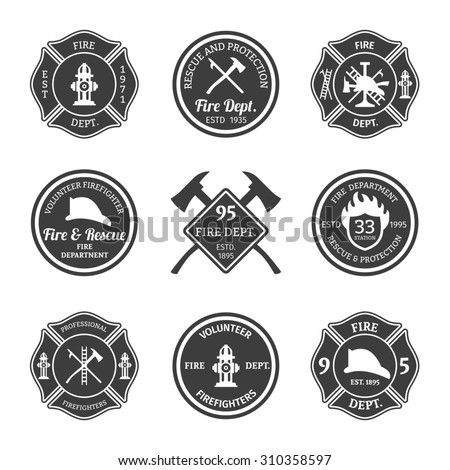 stock images similar to id 98970905 firefighter shield is an. Black Bedroom Furniture Sets. Home Design Ideas