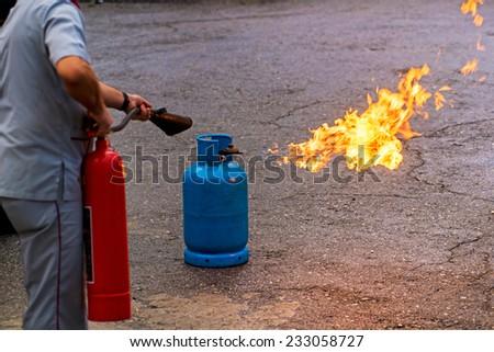 fire drill  - stock photo