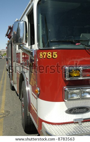 Fire engine. - stock photo