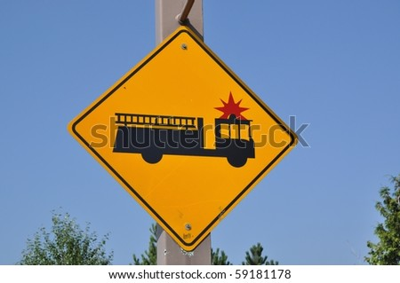 Fire engine sign - stock photo