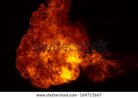 Fire explosion , Fire flames  background - stock photo