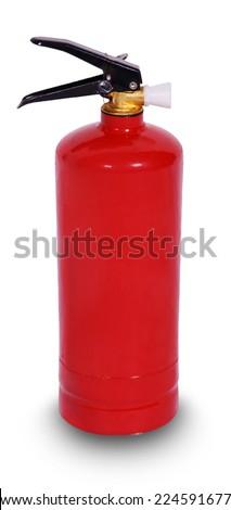 Fire extinguisher isolate on white background - stock photo