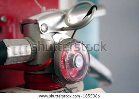 fire extinguisher meter - stock photo