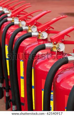 Fire extinguishers - stock photo