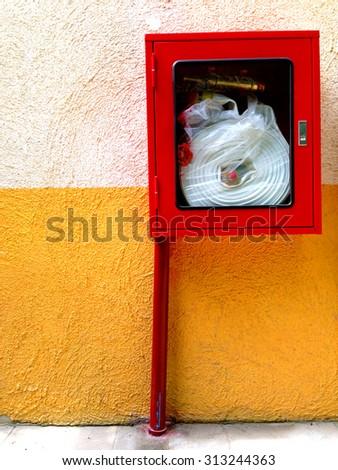 Fire extinguishers emergency equipment  - stock photo