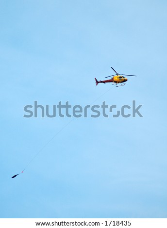 Fire fighter helicopter - stock photo