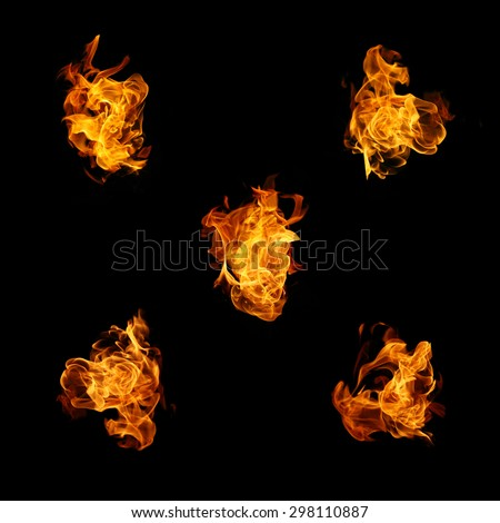 fire flame on background - stock photo