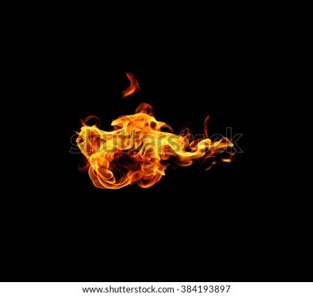 Fire flames - stock photo