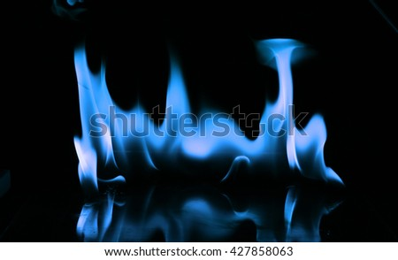 Fire flames on black background,Flames of Fire in a fireplace,fire flame,fire flame close up, - stock photo