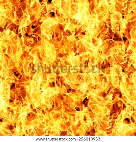 Fire flames texture background - stock photo