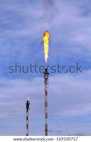 Fire from a gas torch - stock photo