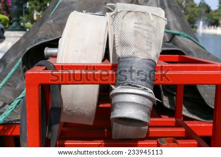 Fire hoses - stock photo