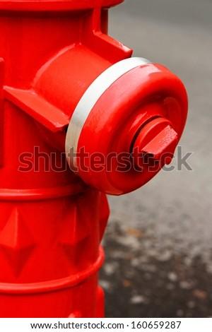 Fire Hydrant closeup - stock photo