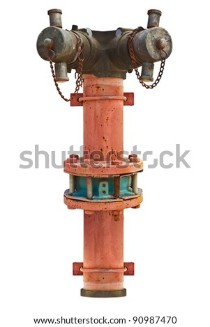 Fire Hydrant Isolated - stock photo