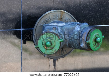 Fire hydrant on street of New York City - stock photo