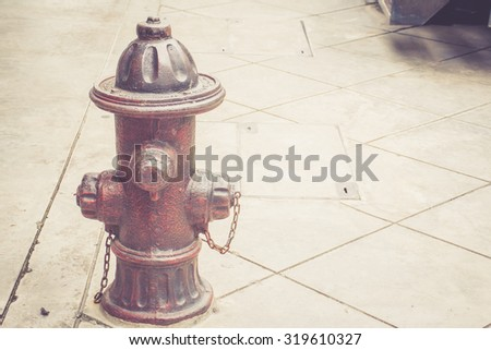 Fire Hydrant vintage style - stock photo