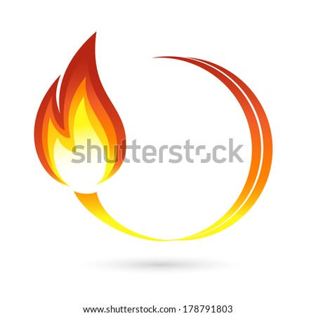 Fire icon - stock photo