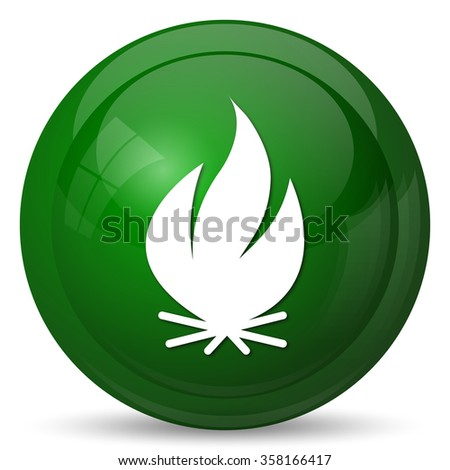 Fire icon. Internet button on white background.  - stock photo
