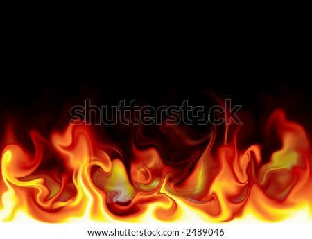 fire illustration - stock photo
