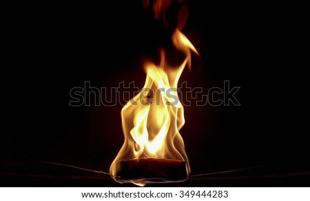 fire in the balloon - stock photo