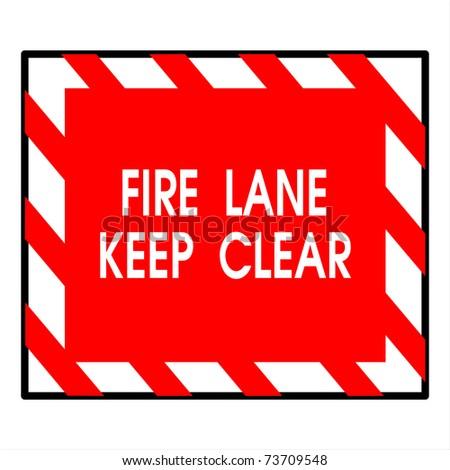 fire lane keep clear - stock photo