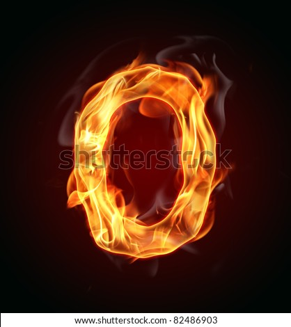 "Fire number ""0"" - stock photo"