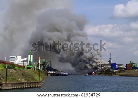 Fire on water - stock photo