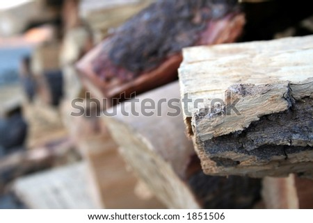 fire place logs - stock photo