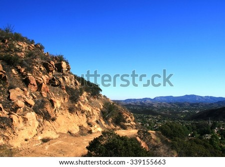 Fire road, late afternoon, Thousand Oaks, CA - stock photo
