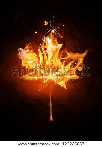 Fire sign - Canada - stock photo