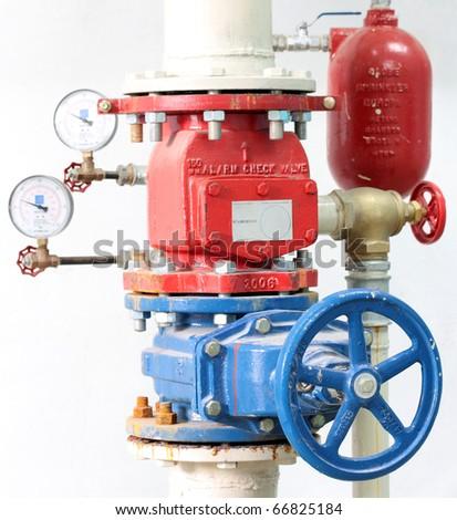 Fire Sprinkler Control System - stock photo