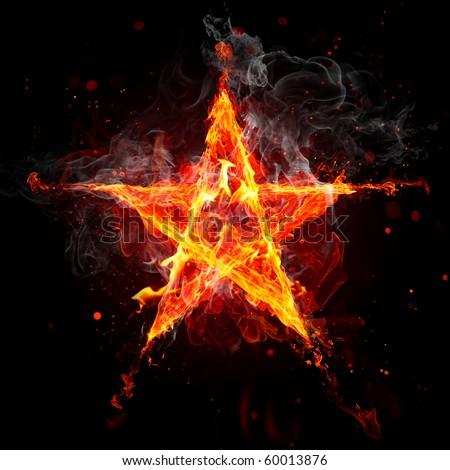 Fire star - stock photo