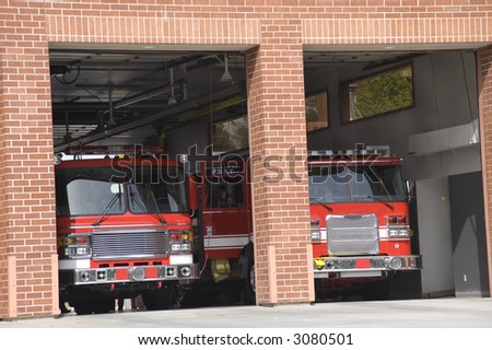 Fire Station - stock photo