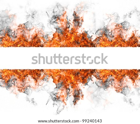 Fire stripe isolated on white background - stock photo
