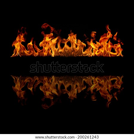 Fire stripe with free space for text  - stock photo