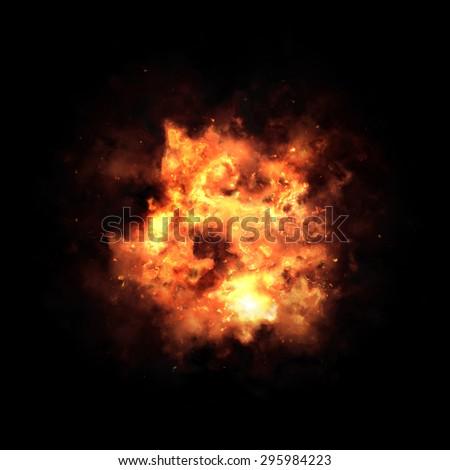 Fire texture - stock photo