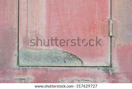 Fire truck door close up. - stock photo
